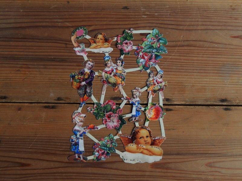 antiques  天使のロココ調クロモス
