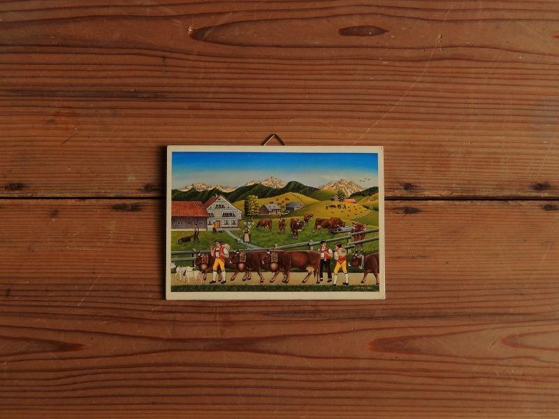 antiques  スイスの風景のタペストリー