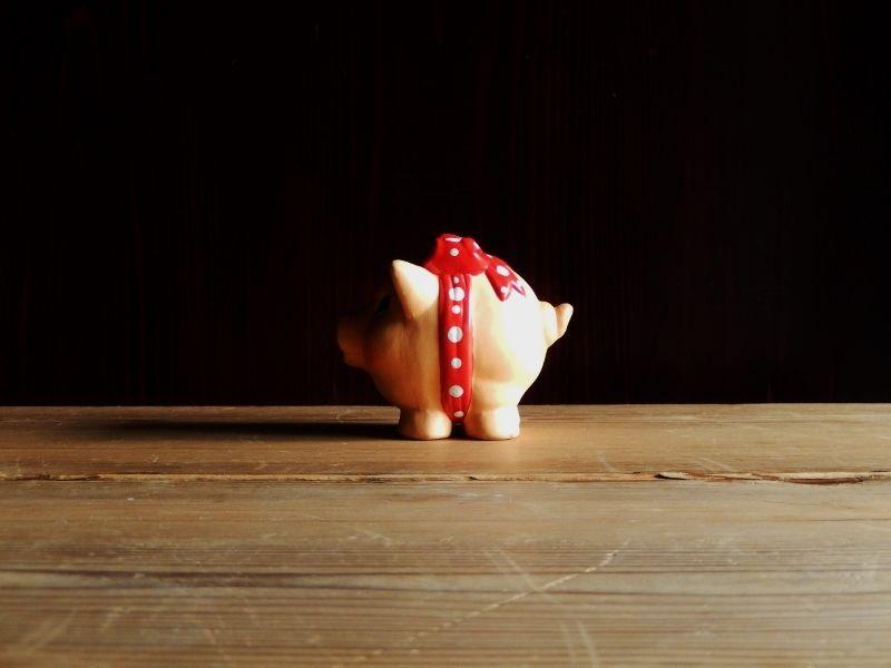 antiques 豚の貯金箱