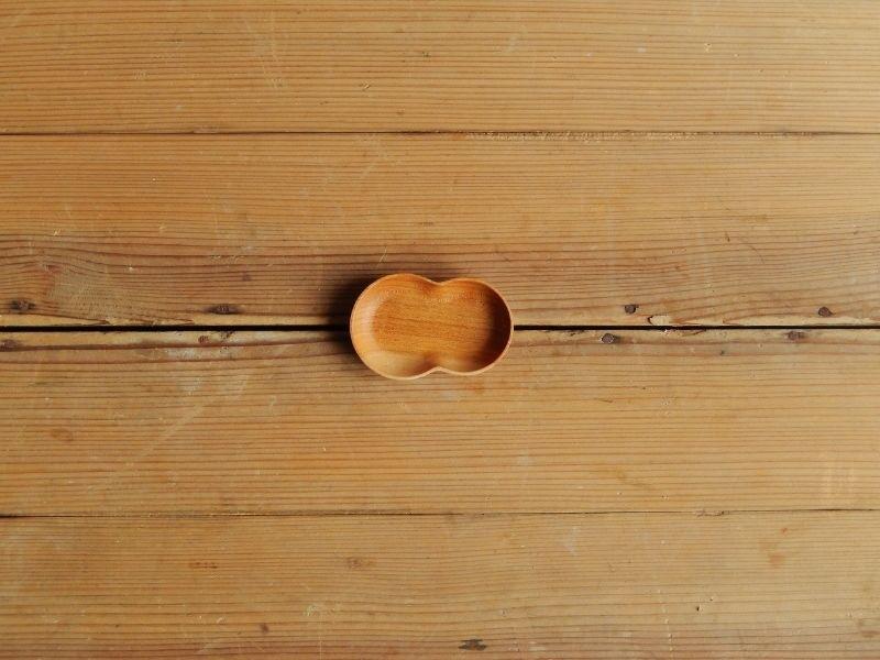 四十沢木材工芸  桜豆皿  ふたば