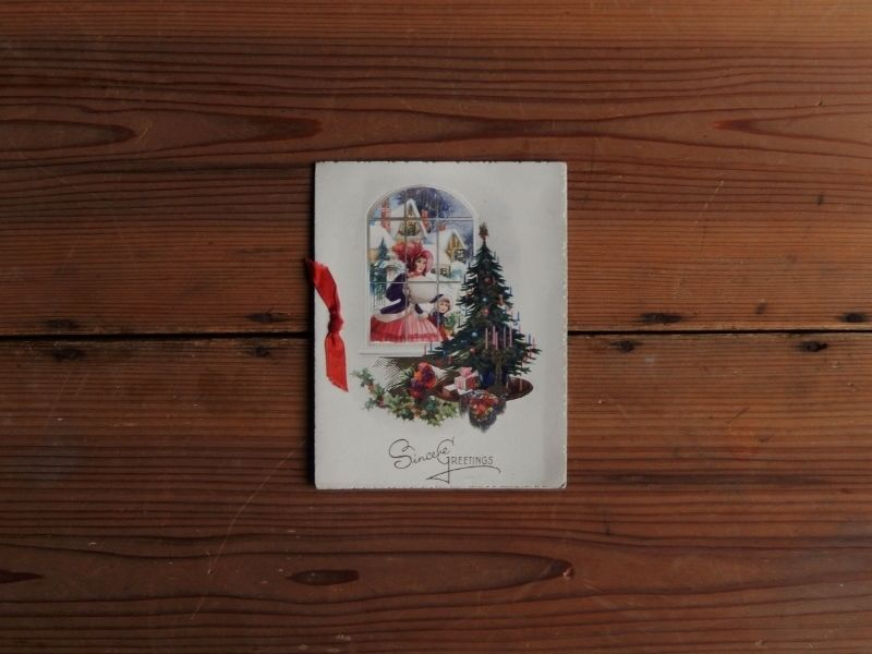 antiques クリスマスカード