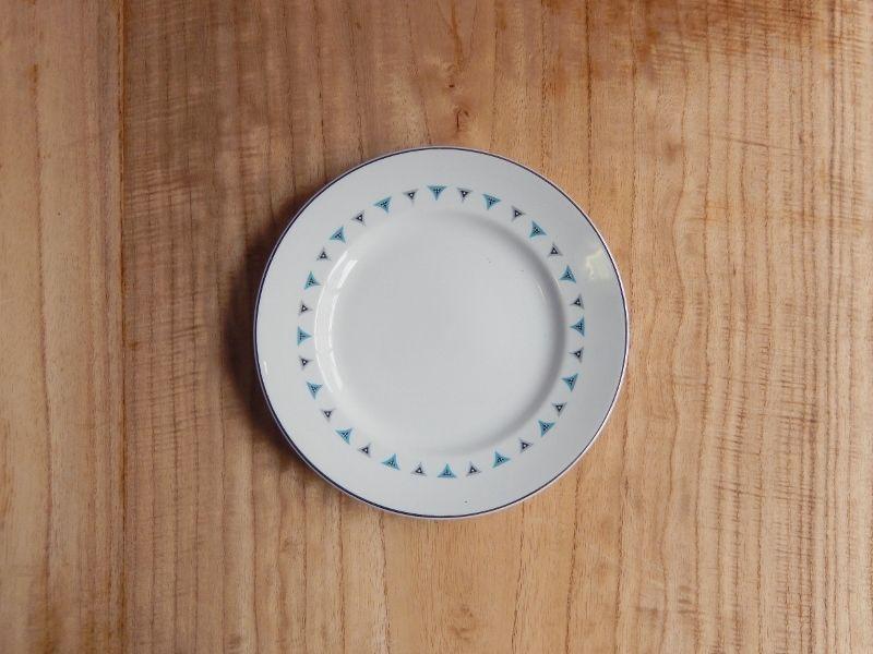 antiques ENGLAND製 幾何学模様の皿