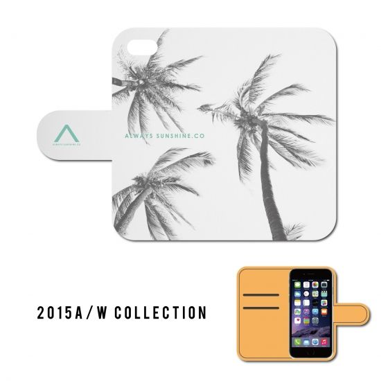 B/W PALM TREE / 手帳型ケース -2015 A/W Collection Always Sunshine.Co-