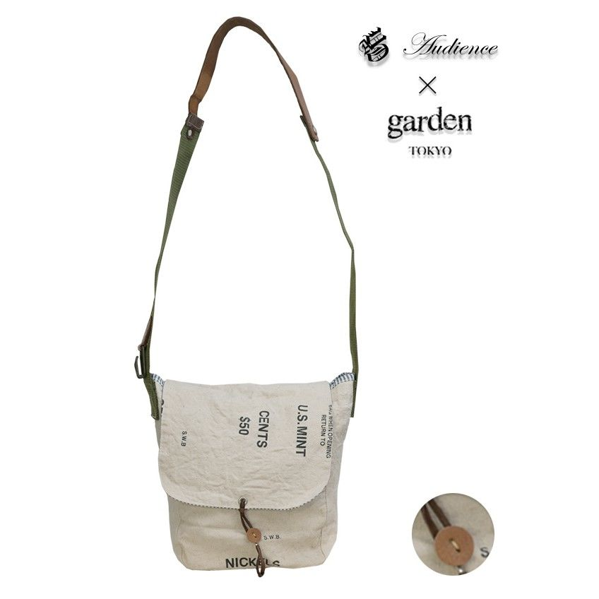 [AUD5047] Audience × garden アメリカ軍バンクポーチハンドメイドリメイクMediumショルダーバッグ