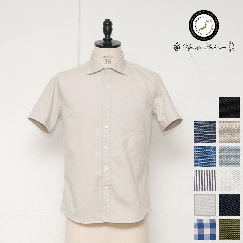 [AUD1658] Upscape Audience ワイドスプレッドボタンダウンカラー半袖シャツ