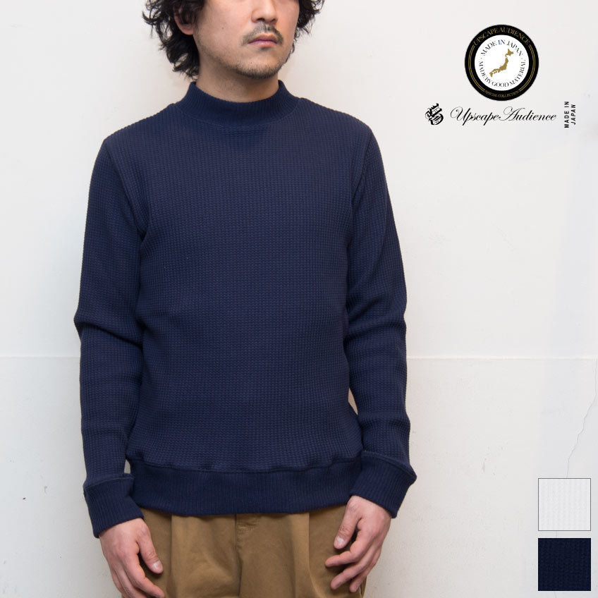 [AUD1756] Upscape Audience BIGワッフルモックネック長袖ニットソー