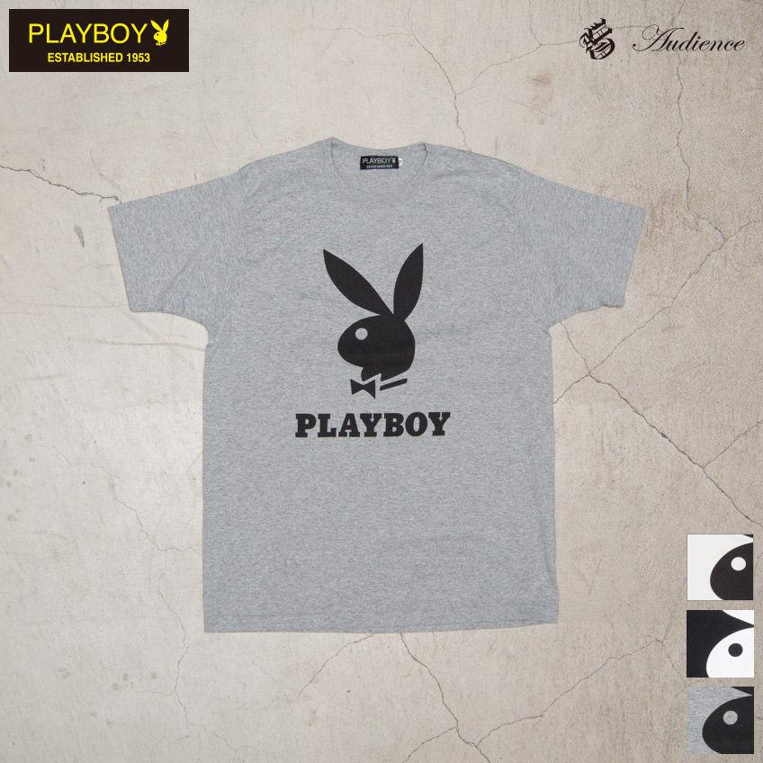 [AUD1706] Audience PLAYBOY ラビッドヘッドオールドプリント半袖Tシャツ