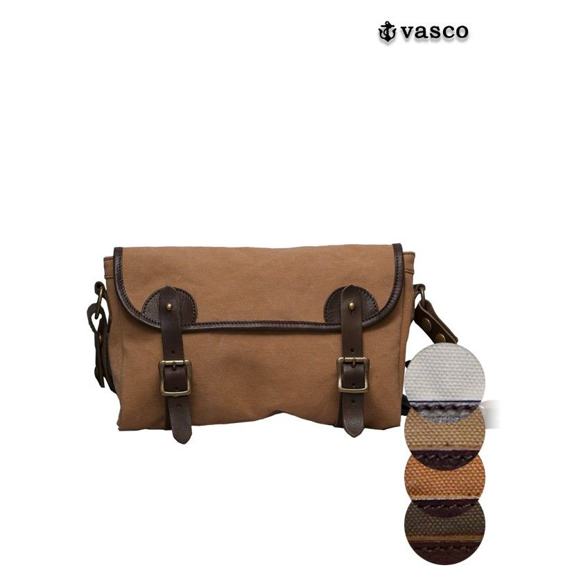 [INS5134] VASCO 国産キャンバス×レザーフィッシングミニショルダーバッグ
