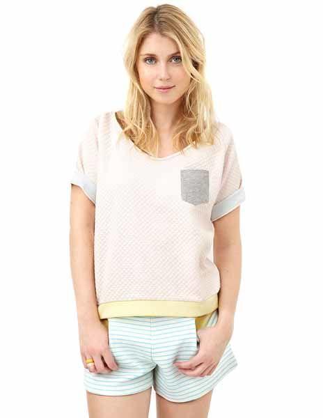 BLUNE キルティングレディースTシャツ (15129)