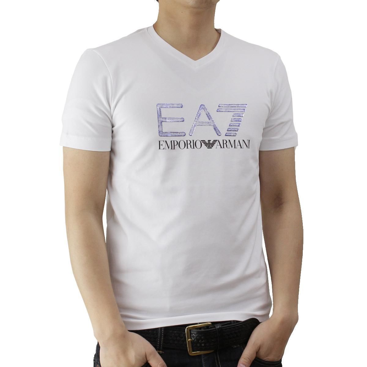 イーエーセブン (EA7) メンズTシャツ273911 6P206 00010WHITE ホワイト系サイズ(#S)