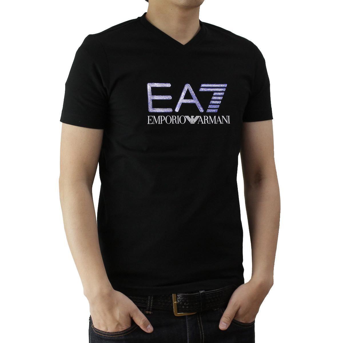 イーエーセブン (EA7) メンズTシャツ273911 6P206 00020BLACK ブラックサイズ(#L)