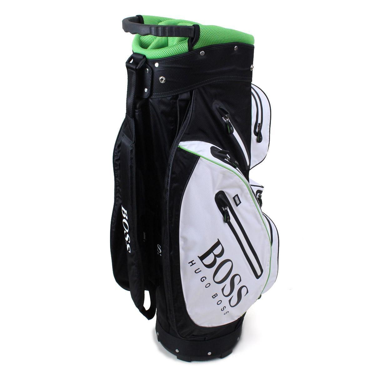 ヒューゴ ボス (HUGO BOSS) BOSS Green ボス グリーン ゴルフバッグ キャディバッグ 50311766 10180633 001 ブラック/ホワイト系/グリーン系