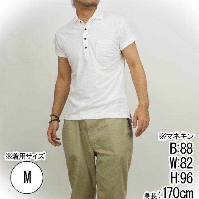 エンポリオ・アルマーニ (EMPORIO ARMANI) メンズポロシャツTNM66 EE 10WHITE ホワイト サイズ(#L)