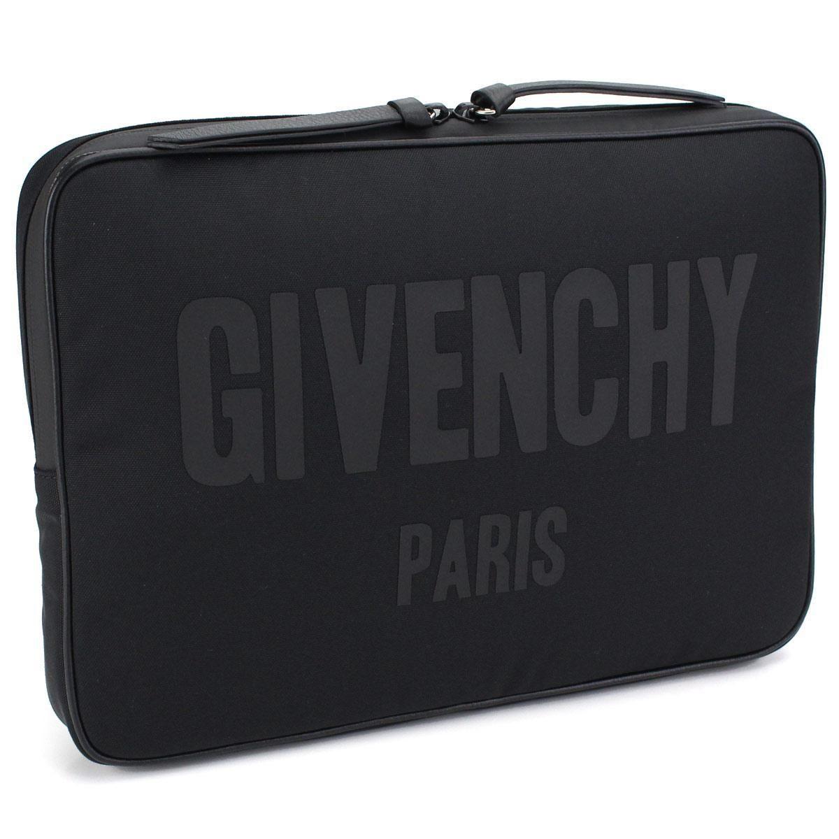 ジバンシー (GIVENCHY) ロゴプリント クラッチバッグBJ05019240 001BLACK ブラック