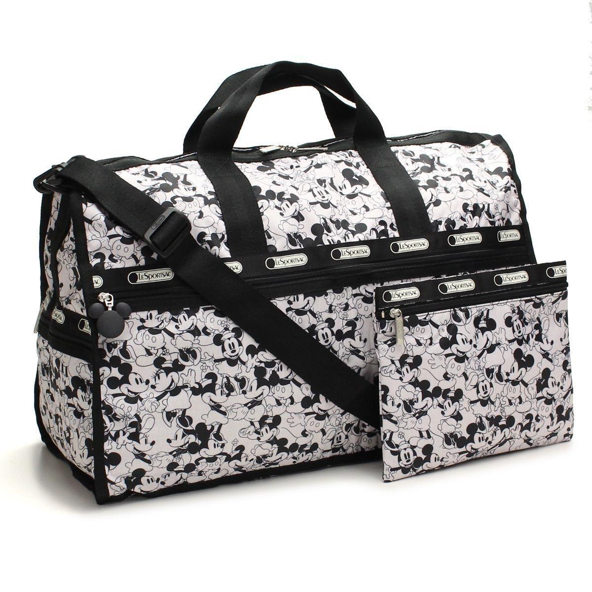 レスポートサック (Le Sport sac) Large Weekender ボストンバッグ7185 P928ブラックホワイト系