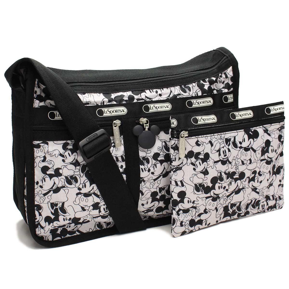 レスポートサック (Le Sport sac) Deluxe Everyday Bag デラックスエブリディバッグ斜め掛けショルダーバッグ7507 P928ブラックホワイト系
