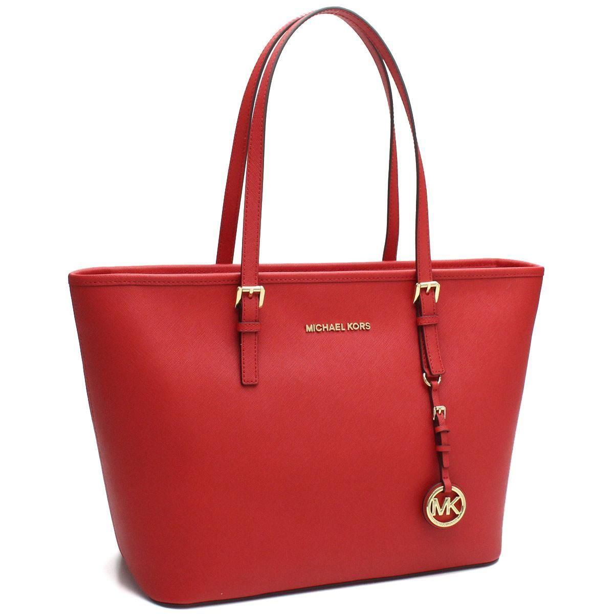 マイケル・コース (MICHAEL KORS) JET SET TRAVEL トートバッグ 30S4GTVT2L BRIGHT RED