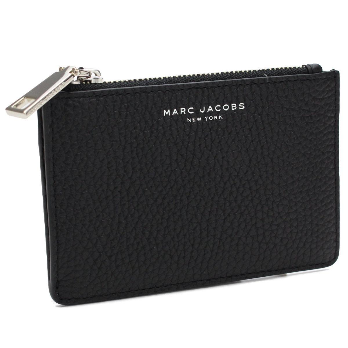マーク・ジェイコブス (MARC JACOBS) キーリング付小銭入れ キーケース 兼 コインケース M0011054 001 BLACK ブラック