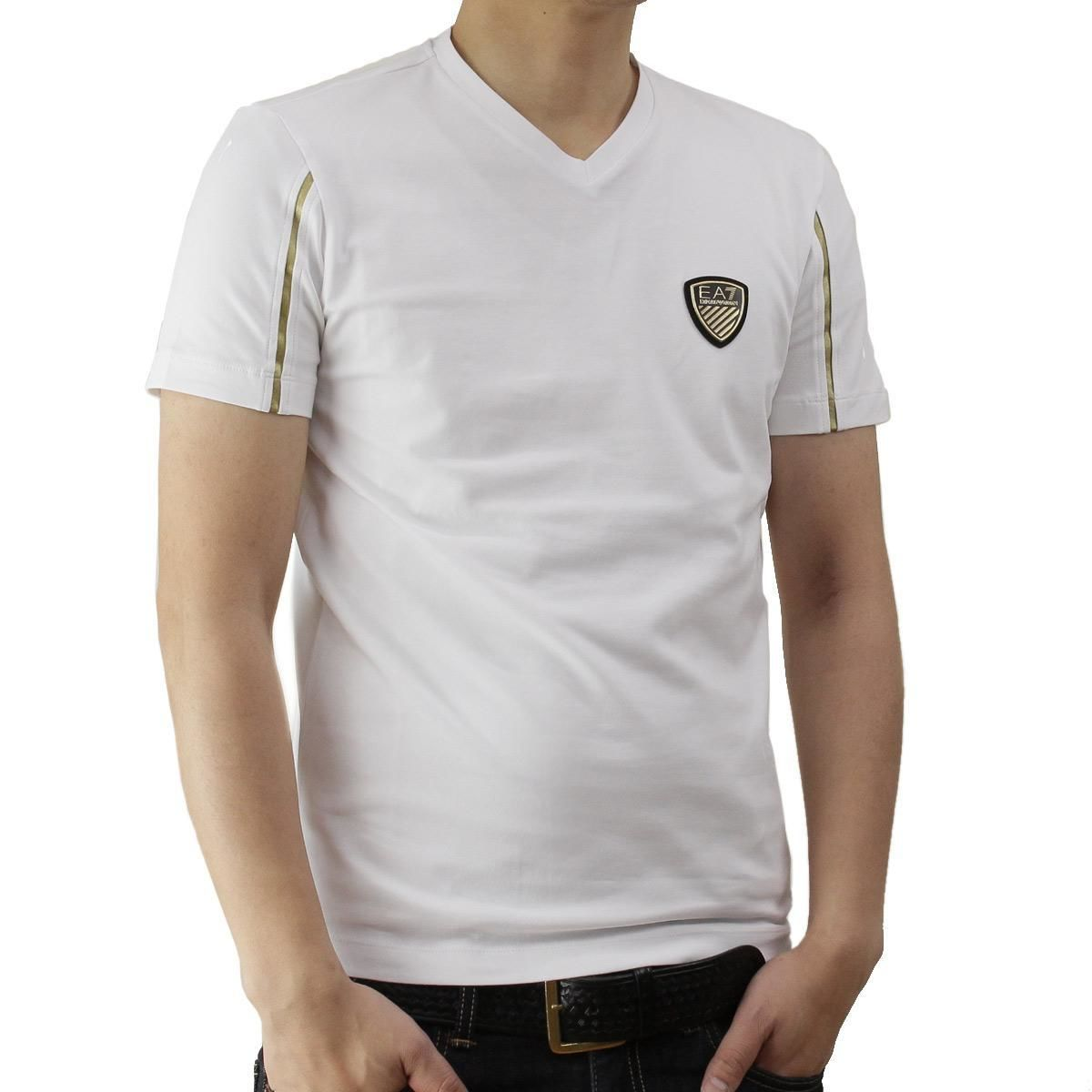 イーエーセブン (EA7) メンズTシャツ273887 6P206 00010WHITE ホワイト系サイズ(#L)
