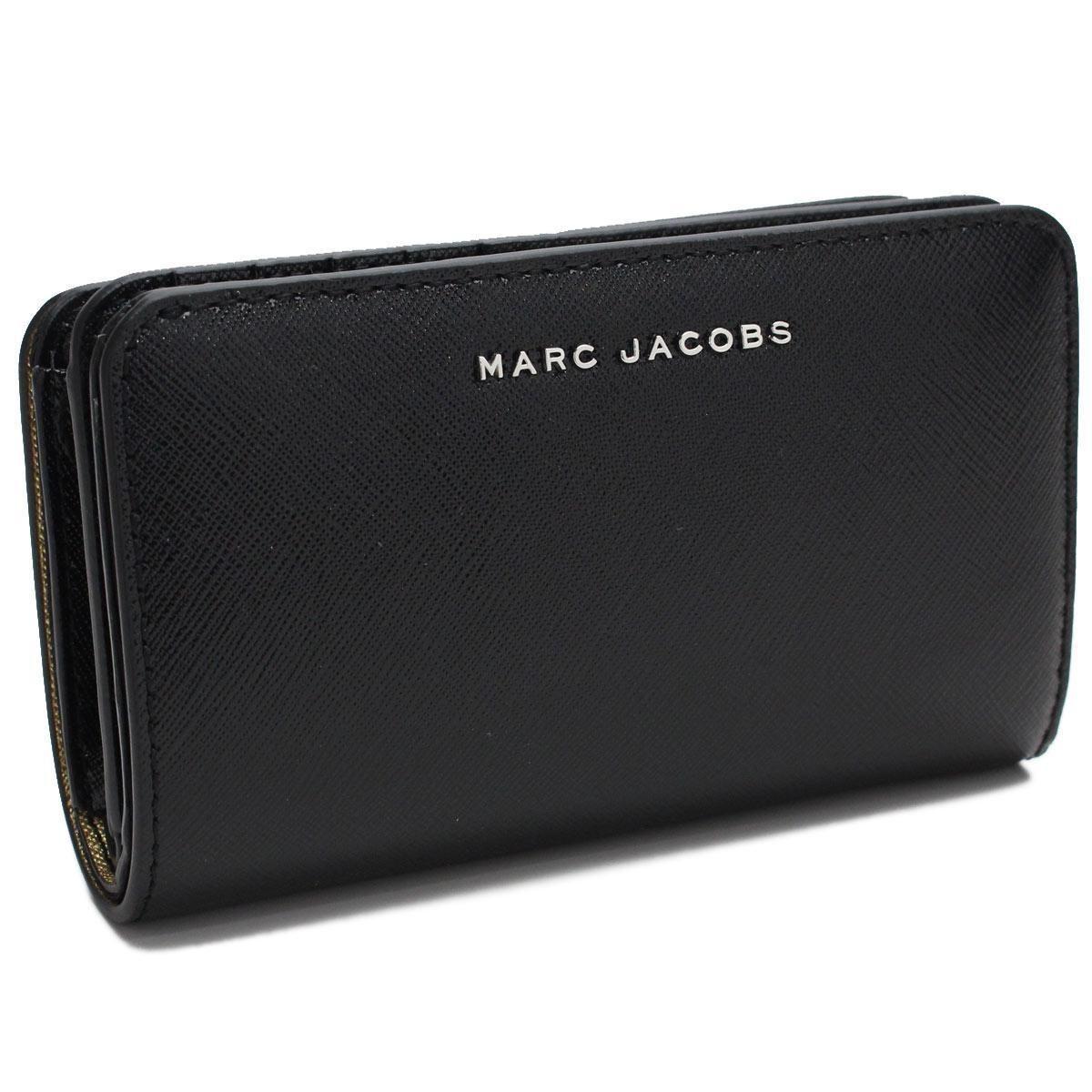 マーク・ジェイコブス (MARC JACOBS) 2つ折り財布 小銭入れ付き M0011137 001 BLACK ブラック