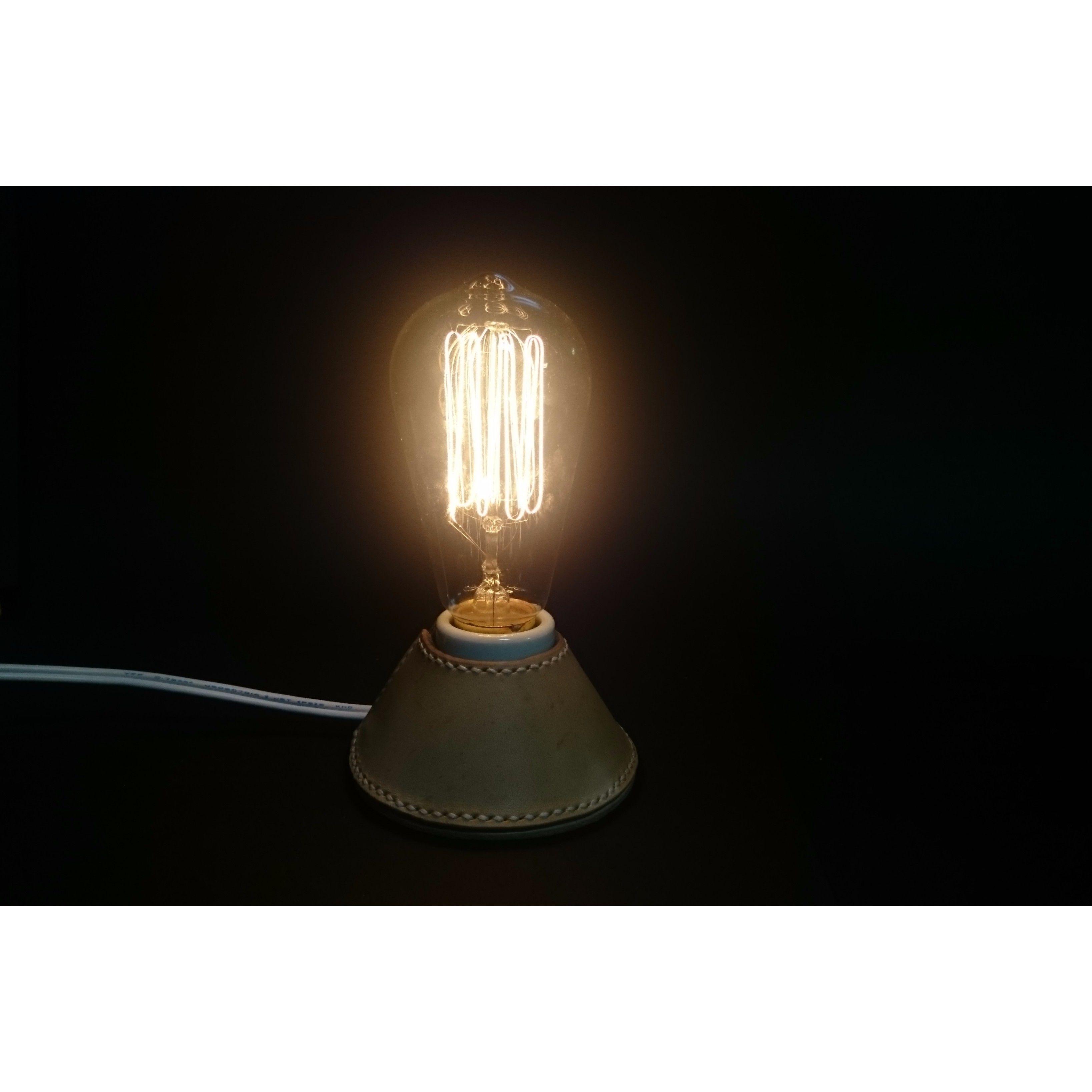 ヌメ革 電球スタンド