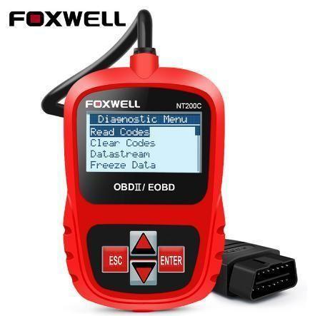 【送料無料!】Foxwell NT200 obd2 eobd車の自動車スキャナエンジンエラーリーダーライブセンサーフリーズフレームデータ明確mil obdii診断ツール【新品】