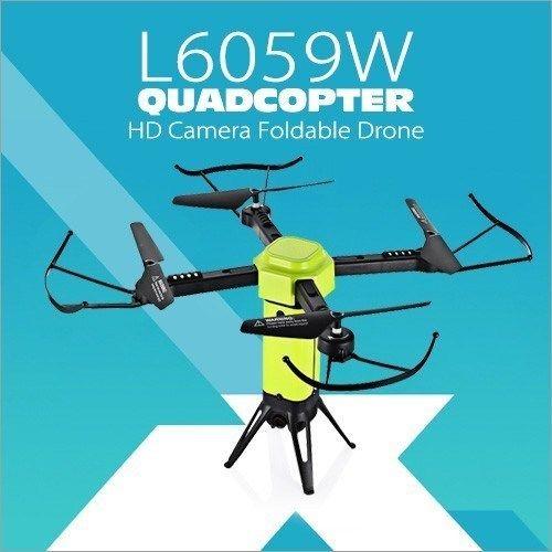 【送料無料!】ドローン カメラ付き 小型 ラジコン L6059W QUADCOPTER スマホ 空撮 リアルタイム おもちゃ【新品】