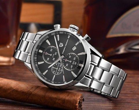 高級海外ブランド時計 PAGANI DESIGN 日本未発売 クロノグラフ メンズ クォーツ 腕時計 サファイアクリスタル