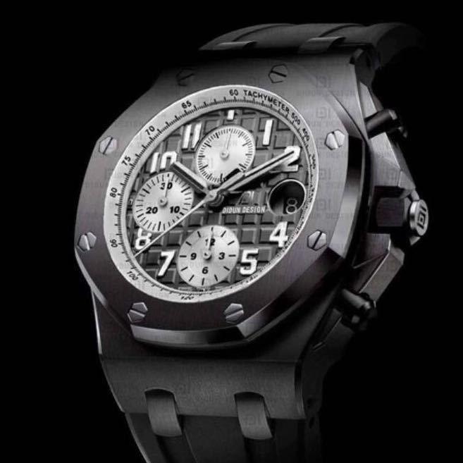 【送料無料!】高級時計★DIDUN★希少 クロノグラフ メンズ クォーツ 腕時計 【新品】