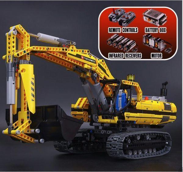 【送料無料!】LEPIN レゴ互換 ショベルカー テクニックシリーズ ブロックおもちゃ 1123ピース 20007 参考動画あり 8043相当【新品】