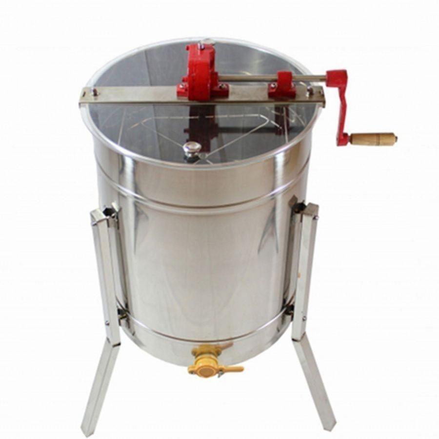 【送料無料!】【4枚式】(4フレーム)蜂蜜分離器 ステンレス 蜂蜂蜜抽出 ドラム養蜂農場  はちみつ遠心分離機 蜂蜜取る機械【新品】