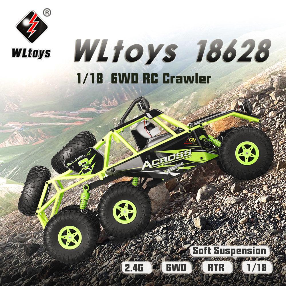 【送料無料!】オリジナルWltoys 18628 1/18 2.4G 6WD 電動オフロードロッククローラーRCバギーカーRTRクライミング【新品】