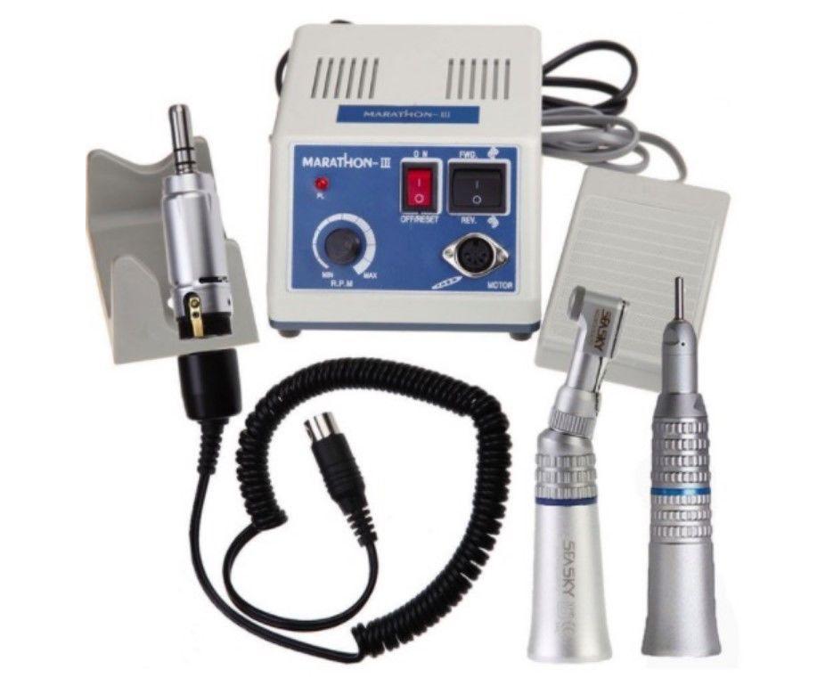 電動研磨マイクロモーター ハンドピース2本付き 歯、ジュエリー、彫刻、産業市場、ハンドメイド