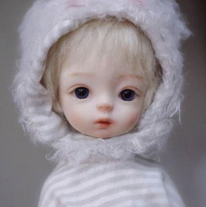 【送料無料!】球体関節人形 本体+眼球+メイクアップ済 BJD カスタムドール 赤ちゃん  ノーブランド【新品】