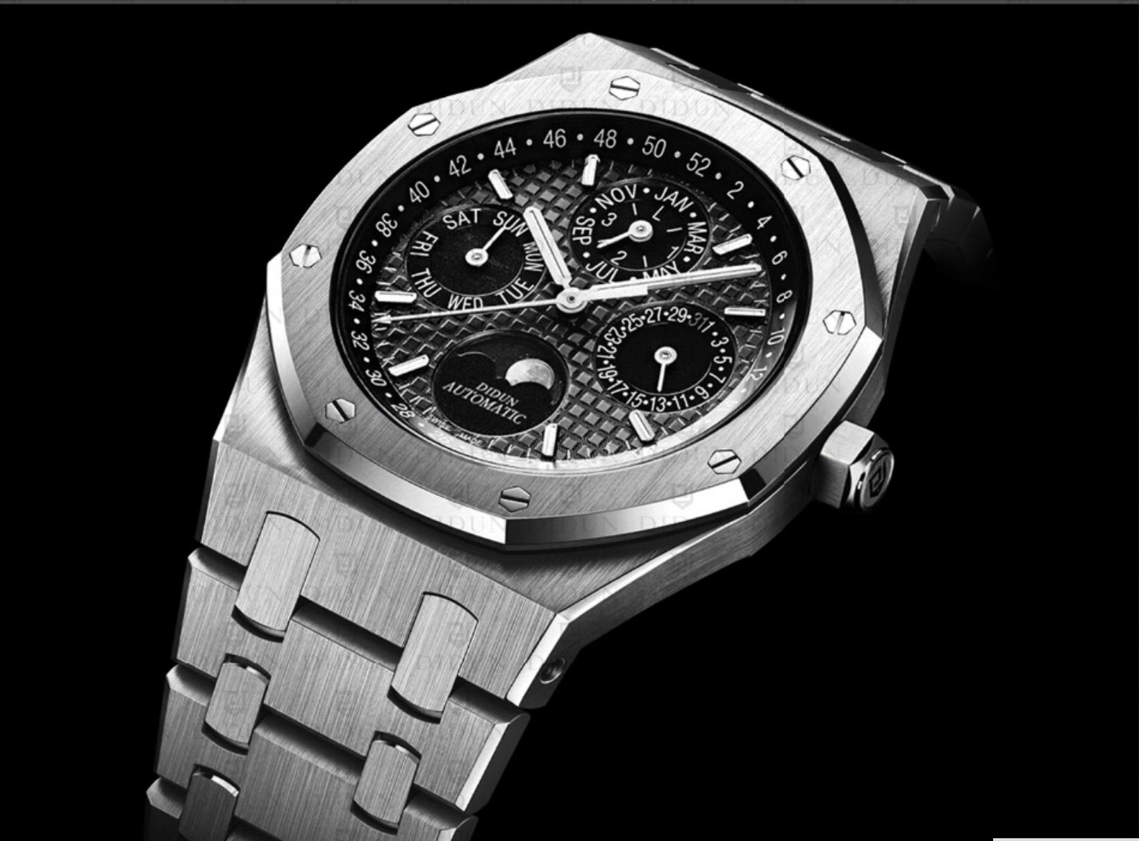 Didun Design メンズ腕時計 トップブランド 高級機械式 ムーンフェイズ