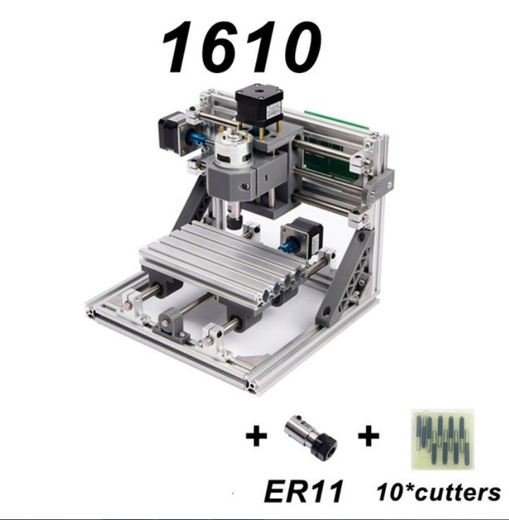 【送料無料!】CNC1610 ミニ フライス盤 DIY 組み立てキット 3軸 木彫り彫刻機 レーザー彫刻機【新品】