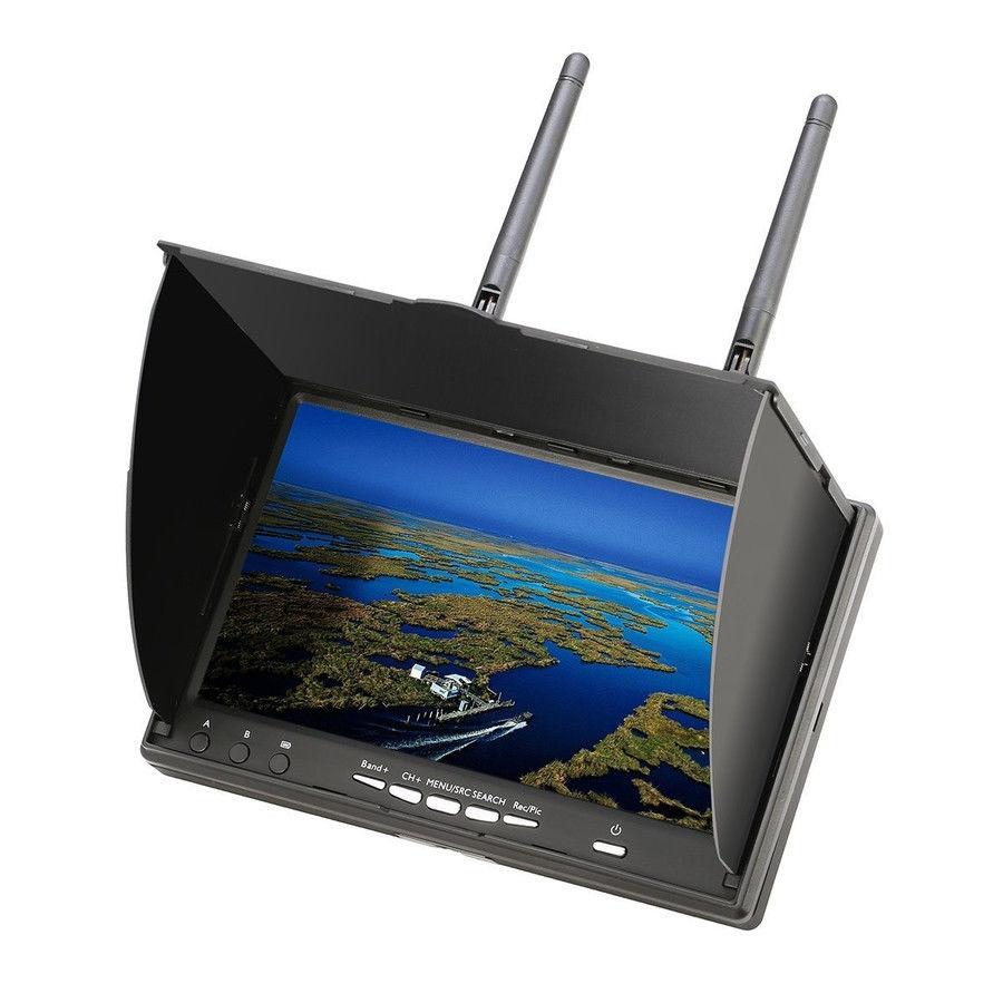 [Eachine 5802D] 5.8G 40CH DVR内蔵 7インチ FPV モニター