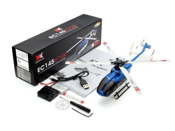 【送料無料!】オリジナルXK K124 BNF ブラシレスモーター3D 6Gシステム RCヘリコプター フタバS-FHSS対応 EC145 6CH  プロポレス【新品】