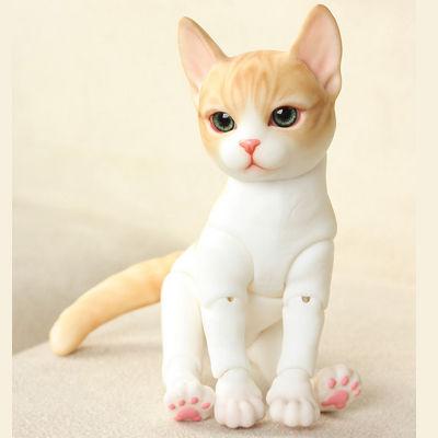 【送料無料!】球体関節人形 本体+眼球  BJD カスタムドール 猫【新品】