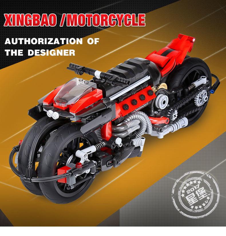 【送料無料!】Xingbao 03021 680ピーステクニックシリーズオフロードオートバイセットビルディングブロックレンガlegoinglys【新品】