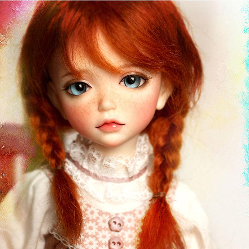 【送料無料!】球体関節人形 本体+眼球+メイクアップ済 BJD カスタムドール 女の子 かわいい プリンセスドール 幼SDサイズ 1/6【新品】