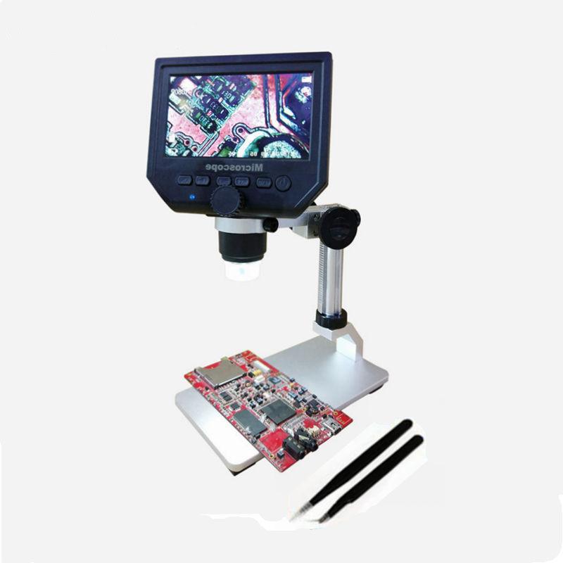 【送料無料!】600 X 4.3 LCDディスプレイ携帯電話のメンテナンスのための3.6MP電子デジタルビデオ顕微鏡ポータブルLEDの拡大鏡メタルスタンド【新品】