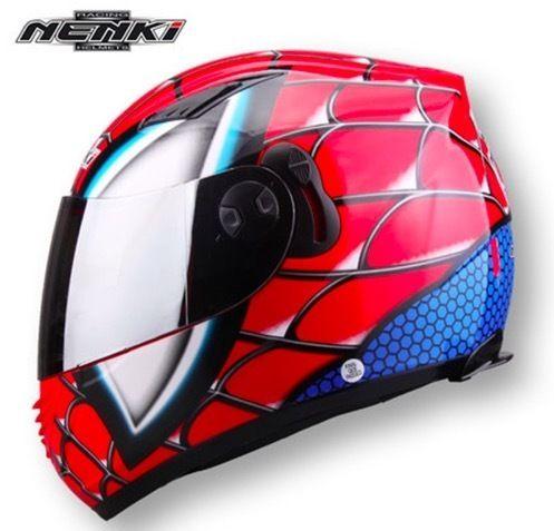 【送料無料!】フルフェイス スパイダーマン(レッドorグレー)マーブル アベンジャーズ ヘルメット バイク M,L,XL,XXL【新品】