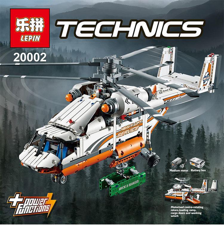【送料無料!】 希少  LEPIN テクニック ヘビーリフト ヘリコプター 42052相当 ( 海外製品 )◆ レゴブロック 互換 ◆【新品】