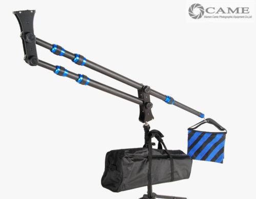 【送料無料!】カーボンファイバー カメラクレーン 2m 1.8kg ポータブル ミニ【新品】