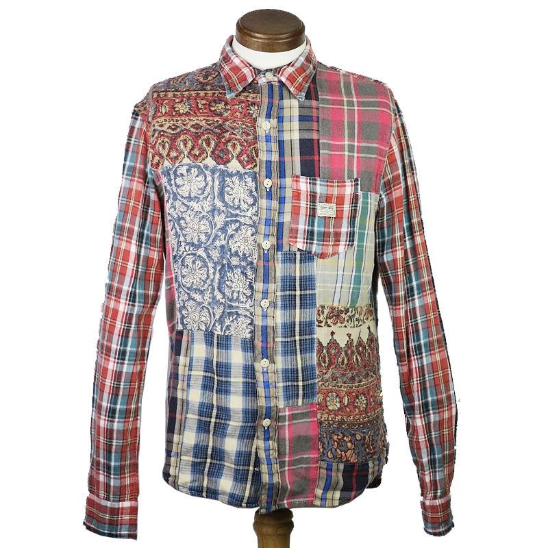 DENIM & SUPPLY(デニムアンドサ プライ) パッチワークシャツ  1