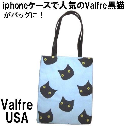 Valfre ヴァルフェー トートバッグ 黒猫 BRUNO GANG TOTE キャンバス 厚手 A4 トートバック レディース エコバッグ 猫柄