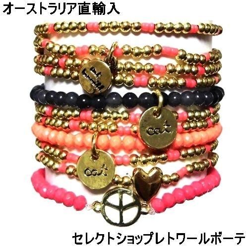 キャットハミル CAT HAMMILL ブレスレット セット レディース fine peace coco bracelet set gold mult ペア