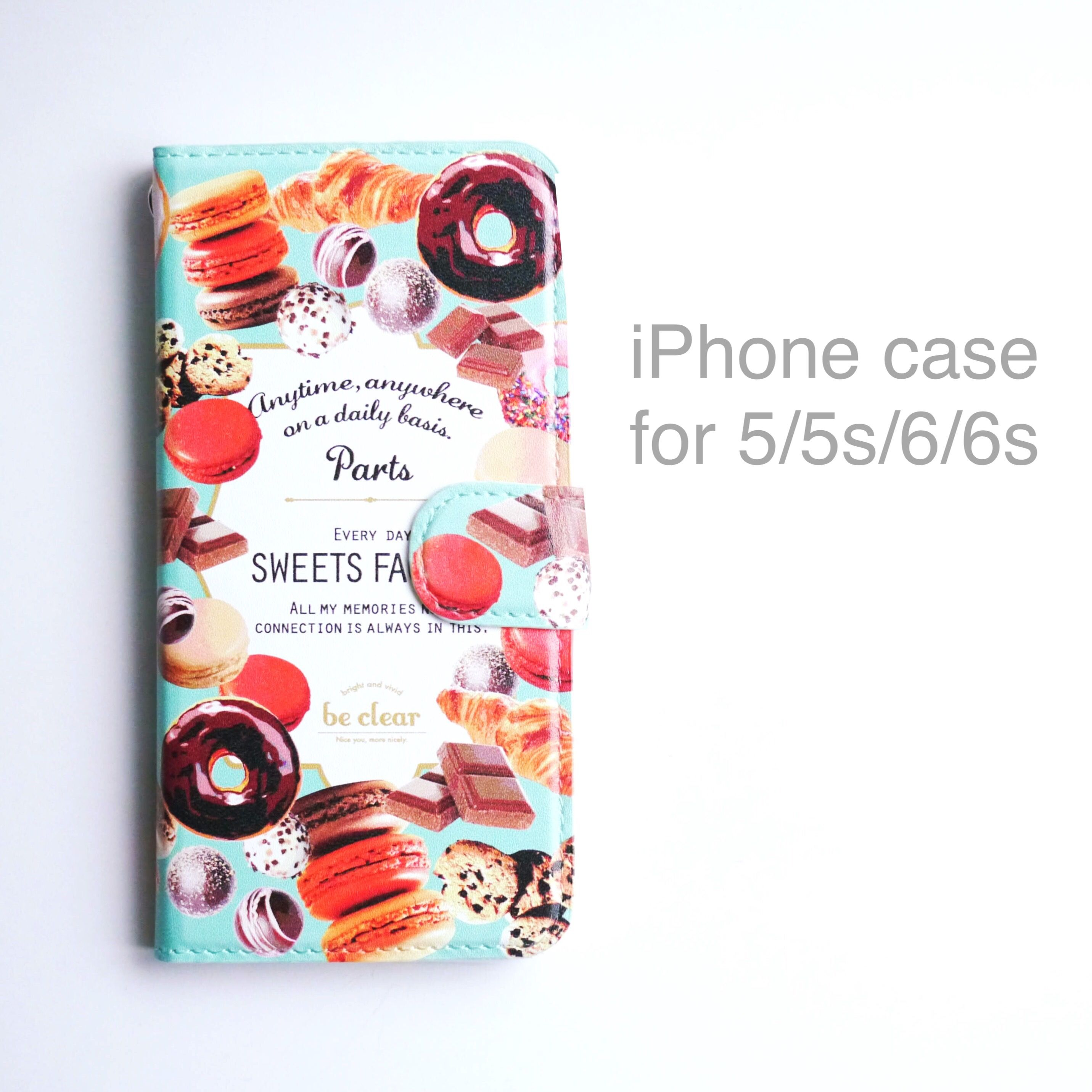 iPhone case (手帳型) for 5/5s/6/6s 【SWEETS FACTORY】