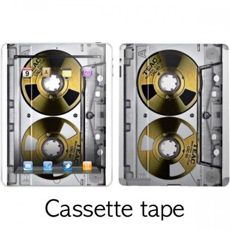 iPad 1/2 デザインスキン カセットテープ